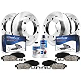 Detroit Axle - 4WD Front Rear Brake Rotors and Pads Replacement for Ford F-250 F-350 Super Duty (SRW Model) - 10pc Set