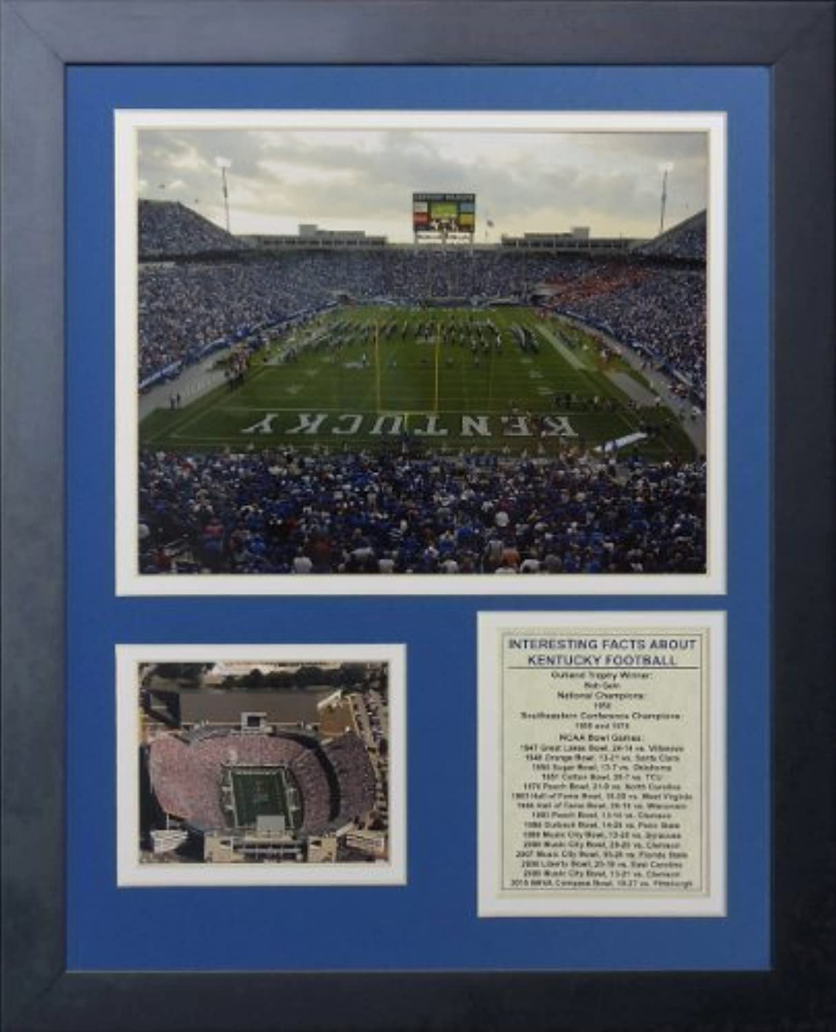 Legenden Sterben Nie Kentucky Wildcats Commonwealth Stadium gerahmtes Foto Collage, 11von 35,6cm von Legends Never Die