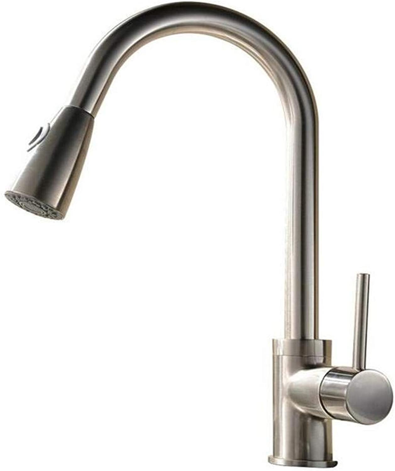 Faucet Kitchen Bathroom Luxury Faucet Modern Sink 360 Degree redation Tap Lead Free All Copper Pulling Type Single Lever Kitchen Cold Hot Water