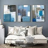Nórdico Color abstracto pieza de arte de pared carteles de lona pintura impresiones imagen para sala de estar arte moderno contratado decoración del hogar 50x70cmx3 sin marco