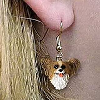 Papillon Brown & White Earrings Hanging