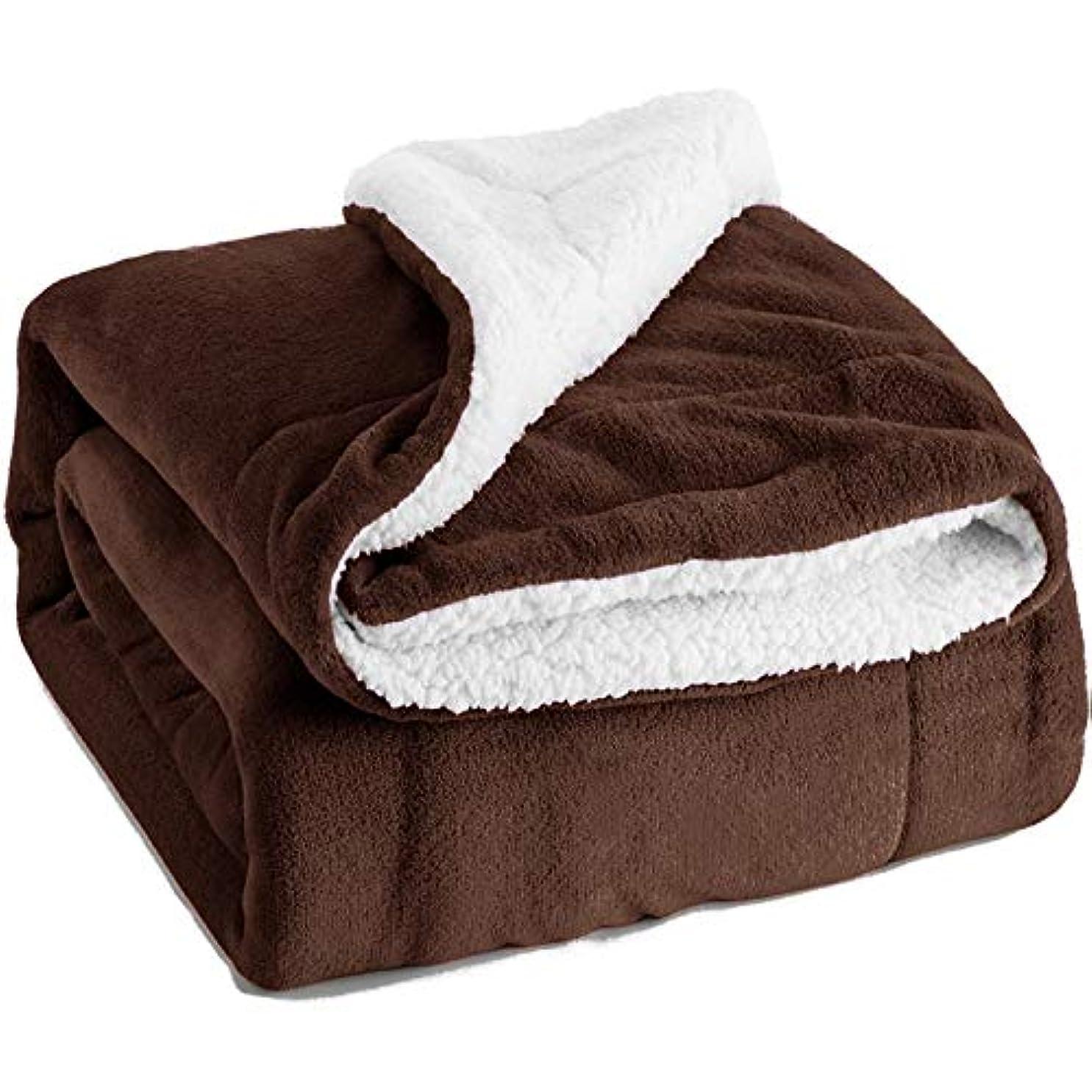 抑制する使い込む福祉ビーチタオル、プールタオルフランネルソフトクイックドライ軽量吸収性豪華な毛布ブルーブラウンブラウングレー130 * 160センチ-Darkbrown
