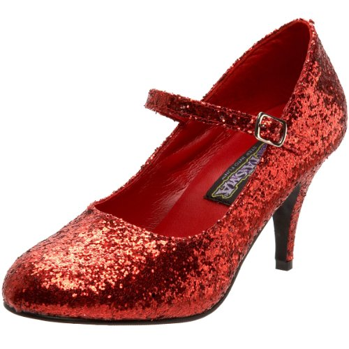 Funtasma by Pleaser Women's Glinda-50G Mary Jane Pump,Red Glitter,8 M US