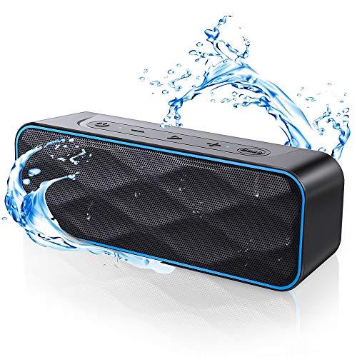 Bluetooth Lautsprecher 20W Musikbox, ZoeeTree 36 Stunden Spielzeit Bluetooth 5.0 IPX7 Wasserschutz Stereo Sound Intensiver Bass, Kabelloser Lautsprecher für Handy, PC, TV