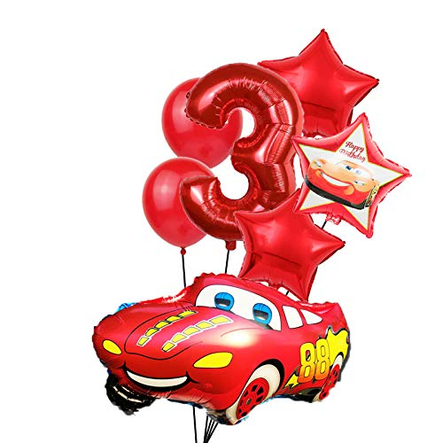 XIAOYAN Balloon 8pcs Large Size Cartoon Car Foil Balloon star latex Inflatable Helium Balloons Wedding Decoration Happy Birthday Party Supplies (Color : A 3)