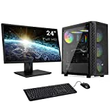 Sedatech Pack PC Pro Gaming Intel i7-9700F 8X 3.0Ghz, Geforce RTX 3060Ti 8Gb, 8Gb RAM DDR4, 480Gb SSD, 2Tb HDD, USB 3.1, WiFi. Ordenador de sobremesa, Monitor, Teclado/ratón, Win 10