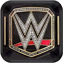 WWE Smash Design Square Paper Plates-8pc