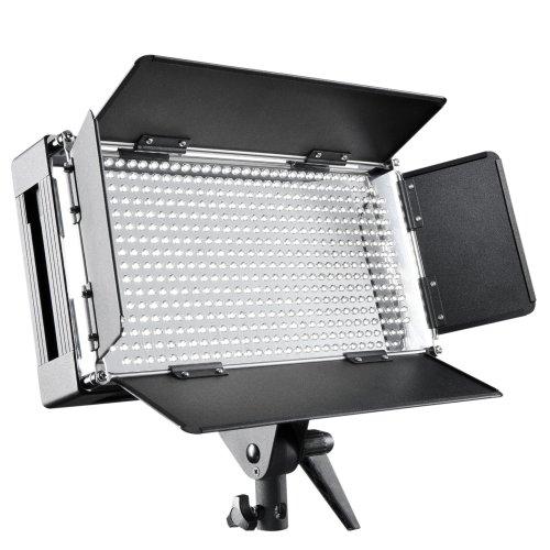 Walimex Pro LED 500 - Sistema de iluminación Continua para fotografía, Negro y Blanco