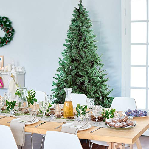 Uten Albero di Natale Artificiale, Abete Albero con Supporto, H 150 cm, 438 Rami