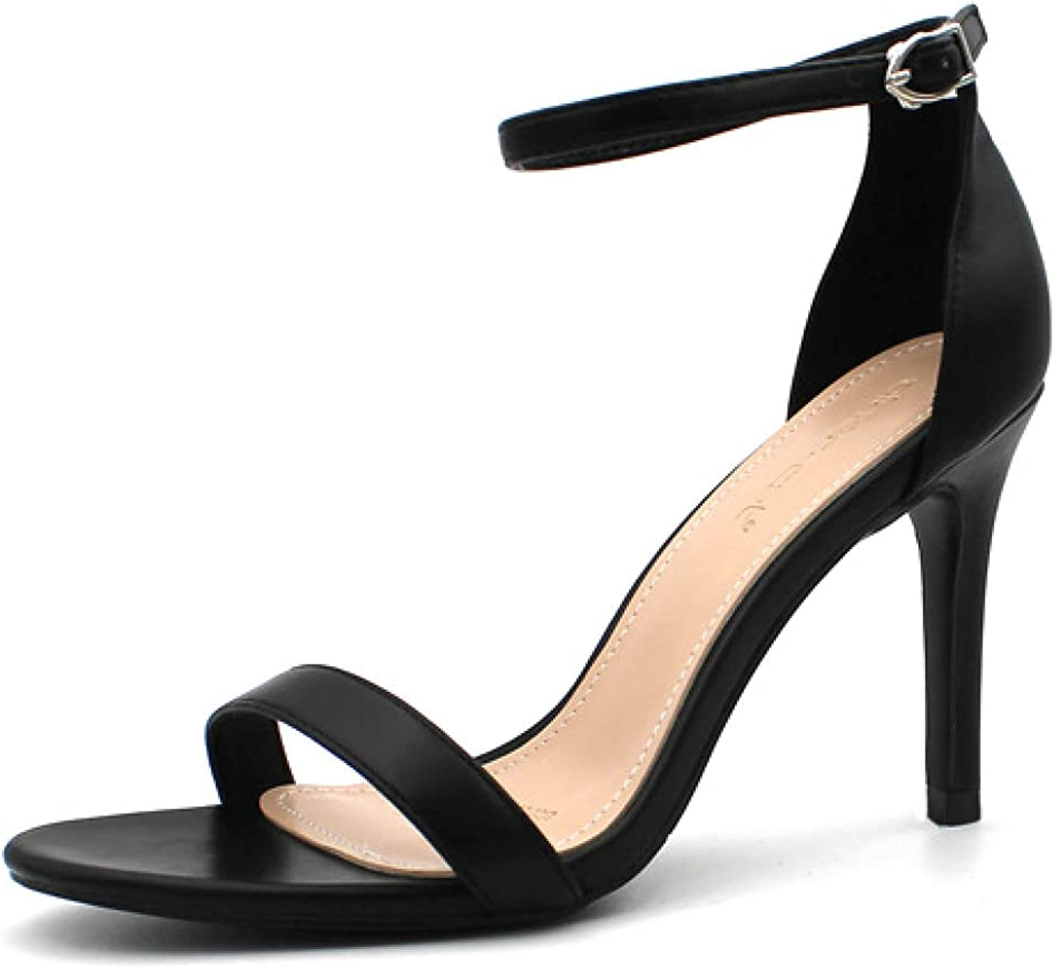 Elegant Stilettos Max 61% OFF High Heel Sandals Ankle with Ladies Strap Portland Mall for