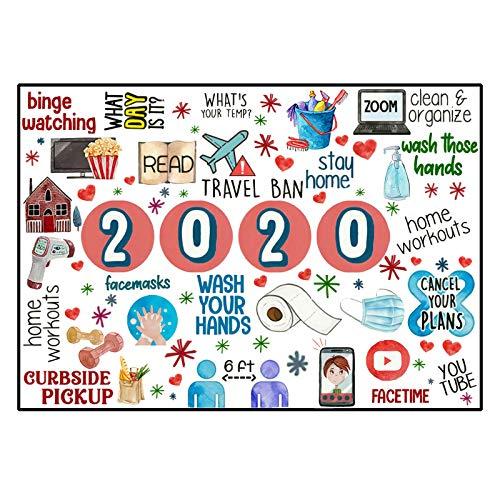 jieGorge Rompecabezas para Adultos y niños, niños, 500 Piezas, Navidad 2020, Rompecabezas de Papel, Juguetes para niños Adultos, Regalo Familiar, Rompecabezas, Juguetes educativos (Negro)