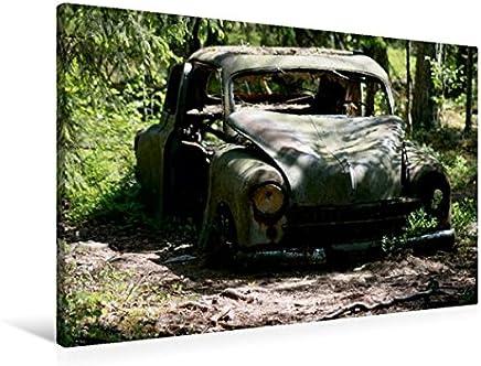 Tela in Tessuto Premium 45 cm x 30 cm Trasversale Un Motivo dal Calendario Schrottautos in Kyrkö Mosse, 90x60 cm