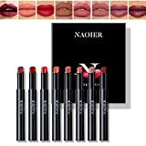 NAQIER Matte Lipstick Set, 8PCS Nude Moisturizer Smooth Lip Stick , Waterproof Matte Lipstick Make up Velvet lip gloss Cosmetic