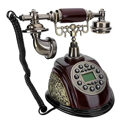DAUERHAFT Teléfono Teléfono de Estilo Retro CT-N8028, para Dormitorio, Estudio, Oficina, Regalo, fácil de operar