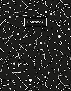 Notebook: Constellation Star Map Campus Notebook 8.5 x 11 (College Ruled)