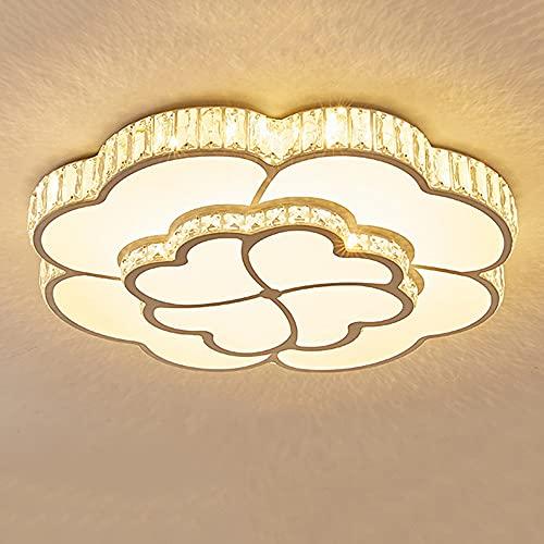 Lampadario di cristallo della camera da letto della camera da letto a quattro foglie fortunata dei bambini,PORTATO Lampada da soffitto a forma di fiore, moderno e semplice miglioramento della casa, c