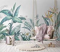 6Fleefilo はがせる壁紙 壁紙 シール 葉 柄 壁 シール リメイクシート 壁の装飾 大きいサイズ DIY FL1636 (FL1636, 390cm x 260cm)