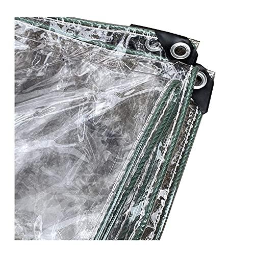 TLMYDD Lona Transparente Lona Duradera Impermeable con Ojales para Cubrir Muebles de jardín, Cámping, Cubierta de Techo