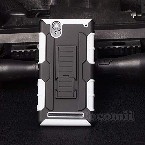Cocomii Robot Armor Sony Xperia T2 Ultra Hülle NEU [Strapazierfähig] Gürtelclip Ständer Stoßfest Gehäuse [Militärisch Verteidiger] Case Schutzhülle for Sony Xperia T2 Ultra (R.White)
