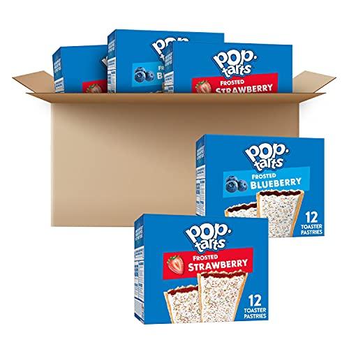 Pop-Tarts Toaster Pastries, Variety Pack, Frosted Blueberry (24 Pop-Tarts) and Frosted Strawberry (36 Pop-Tarts)