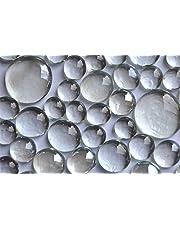 400g glasnuggets glashelder wit 4 versch. maten 13-33 mm, ca. 116 st