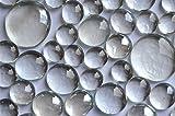 Pepite di vetro trasparente, colore bianco, 400 g, 4 diverse dimensioni da 13 a 33 mm, cir...