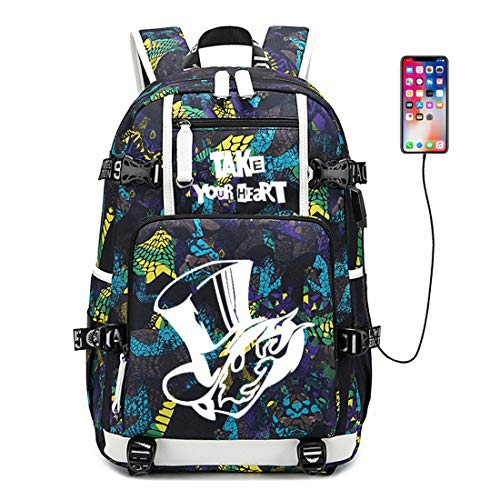 Siawasey Persona Cosplay Luminous Bookbag Backpack School Bag with USB Charging Port (A2)