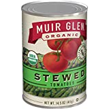 Muir Glen Canned Tomatoes Organic Stewed Tomatoes, No Sugar Added, 14.5 Ounce Can (Pack of 12)