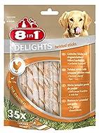 8in1 Delights Twist Chicken Sticks, 35-Piece, transparent