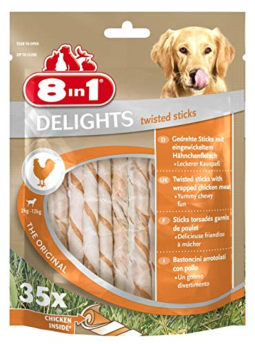 8in1 Delights Twisted Sticks - 35 Pezzi, 190 g