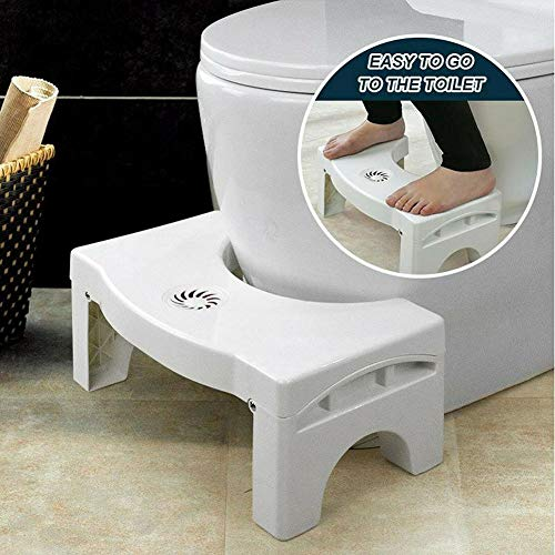ALEXTREME Toilet Stool, Folding Multi-Function Toilet Stool Portable Step for Home Bathroom