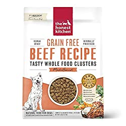 The Honest Kitchen Human Grade Grain Free Whole Food Clusters Dry Dog Food beef