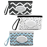 3 Pack Baby Wipes Dispenser Portable Wet Wipe Dispenser Bag Reusable Travel Baby Wipes Container Refillable Wet Wipe Carrying Case Holder for Diaper Bag Lightweight Travel Wipes Dispenser Cases