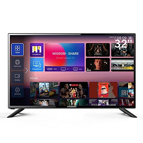 Kondoon 32inch Smart TV RS32F Android 9.0 WiFi Full HD Netflix Youtube Prime Video DVB-T2/S2 Quad Core Ultra Thin