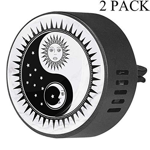 Yin Yang Símbolo con cara de sol luna