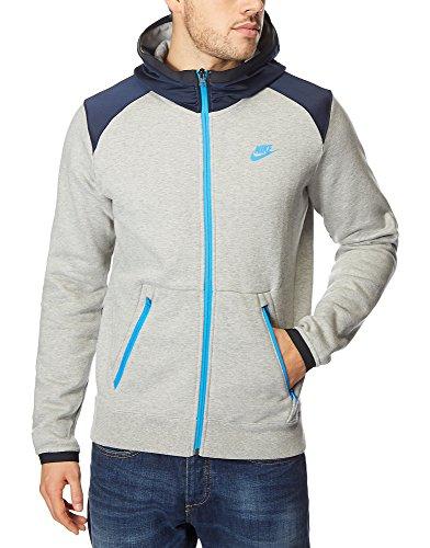 Nike Hybrid Trainingsanzug Fleece Kauzentop - Grau/Blau, S