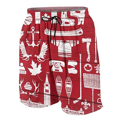 De Los Hombres Casual Pantalones Cortos Secado Rápido Traje de Baño Playa Ropa de Deporte con Forro de Malla