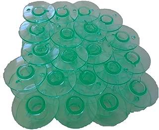 NGOSEW 50 PCS BOBBINS Green Plastic fits Viking Emerald 116,118,183,203