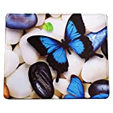 VIVIPOW Bule Butterfly Rectangle Non-Slip Rubber Mousepad Gaming Mouse Pad,Blue Butterfly Mousepad