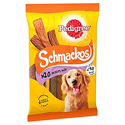 Pedigree Schmackos Dog Treats Meat Variety, 20 Sticks