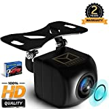Yanees Backup Camera Night Vision - HD 1080p - Car Rear View Parking Camera - Best 170° Wide Angel Reverse Auto Back Up Car Camera Fits All Vehicles