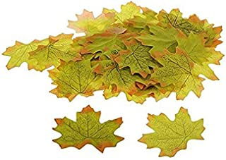 1Pcs Artificial Fall Autumn Maple Leaves Kioneer Multicolor Silk Leaf for Party Wedding House Decoration Green
