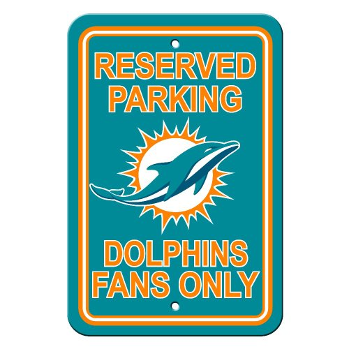 Miami dolphins reserved sign parking decor sign