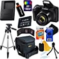 Canon Powershot SX420 is 20 MP Wi-Fi Digital Camera with 42x Zoom (International Version) + NB-11L Battery & AC/DC Battery Charger + 9pc 32GB Deluxe Accessory Kit w/HeroFiber (32GB KIT, Black)