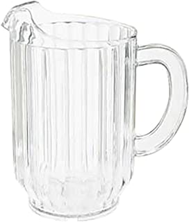 60 oz. Clear Plastic Pitcher, Dishwasher Safe, Break Resistant, for Indoor and Outdoor Entertaining, by GET P-2064-1-CL-EC (Pack of 1)