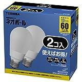 東芝 ネオボール 電球形蛍光ランプ 電球60ワットタイプ 昼光色 2個パック EFA13ED-E-U-2P