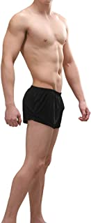 Men's Sexy Breathable Built-in Pouch Boxers Underwear Lounge Sleep Shorts