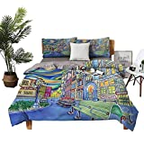DRAGON VINES Pillow case Downtown Seattle Urban Toddler Sheets Apartment Dormitory W104 xL90