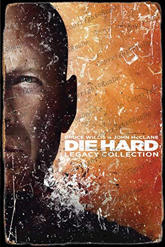 HONGXIN Die Hard Movie Vintage Tin signs Retro Metal signs Poster Plaque Bar Pub Cafe Garge Home Bedroom wall Decor 8×12 Inch