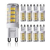 LAMPAOUS G9 LED Light Bulb 5W Screw Corn Bulbs for...